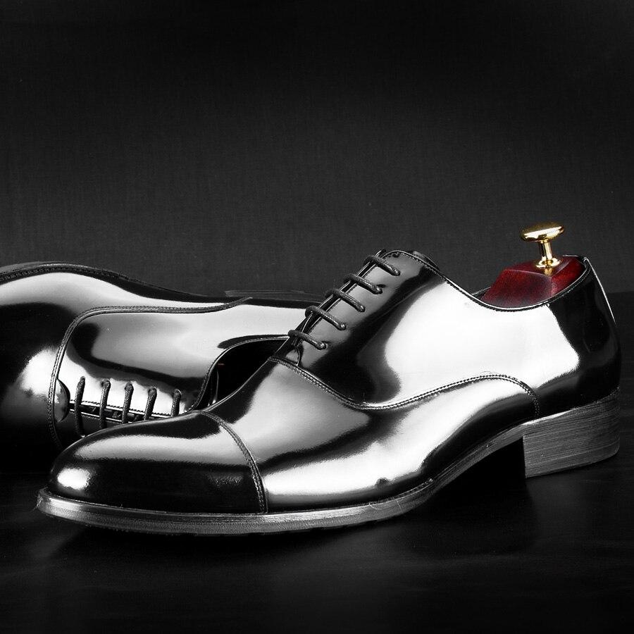 Individuelle Zapatos Schuhe Spitz Männer De Anzug Schuh Schwarzes Mycolen Handarbeit Schwarzen Lederschuh Kleid Kalbsleder Hombre Echtes wgBCCqt