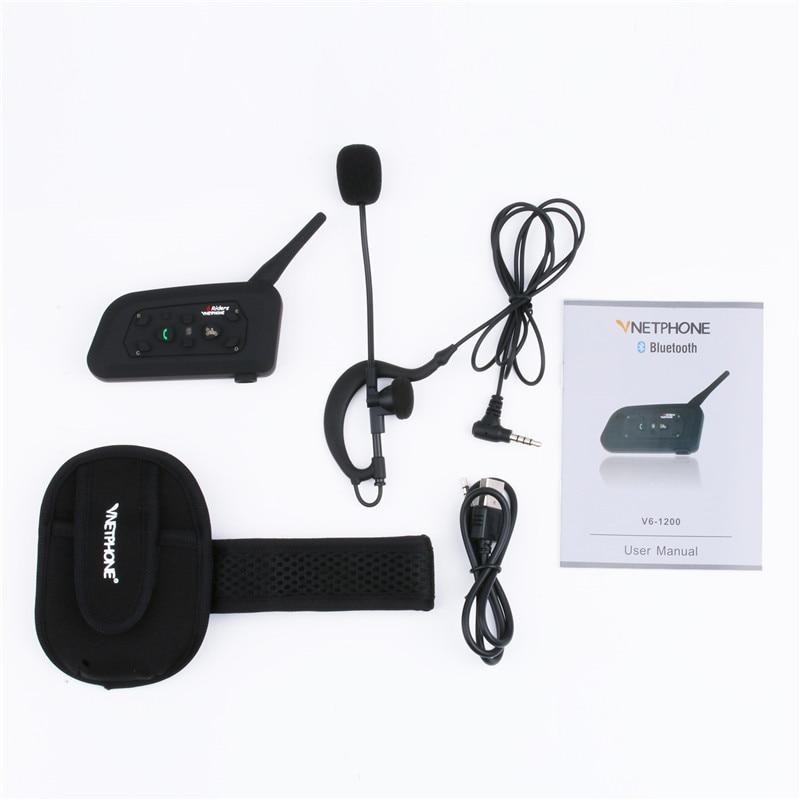 Vnetphone V6C 1200M Intercom Full Duplex Two-way Football Referee Coach Judger Arbitration Earhook Earphone