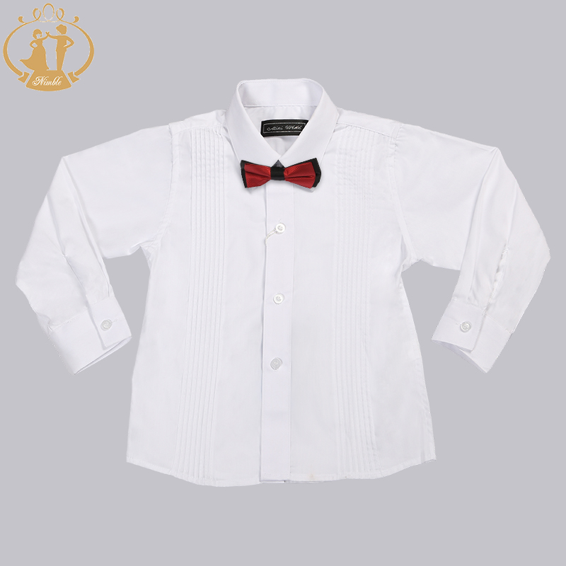 Nimble Boys Formal White Shirts Cotton Long Sleeves Boys Cloth