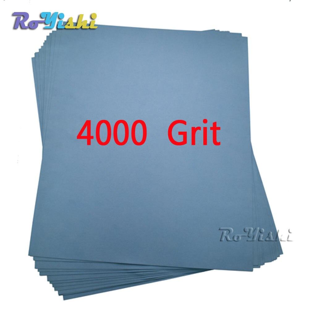 100 feuilles/pack 4000 grit Humide et Sec Papier de Verre Abrasif Imperméable À L'eau des Feuilles De Papier
