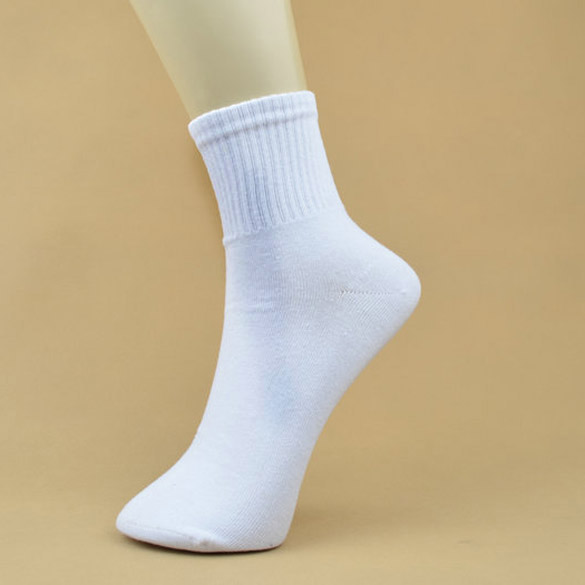 High Quality 5 Pairs Men's Ankle Socks Men's Cotton Low Cut Casual Socks One Size White Meias Calcetines Mujer Chaussette Femme