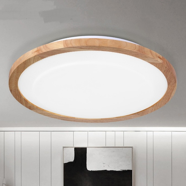 Japonais En Bois Rond LED Plafonniers Simple Salon Chambre tude Sup rieure Villa H tel led.jpg 640x640 Résultat Supérieur 15 Incroyable Plafonnier Bois Led Galerie 2017 Pkt6