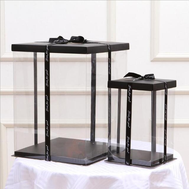 12 inches 40cm Cake Box Rose Bear Box Transparent Empty Gift Box for Teddy Bear Flower Bear Rabbit Gift Box