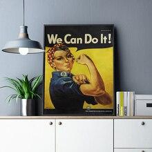 Мы можем сделать это мотивационные крафт-бумаги краски смешные-крафт-бумага плакат ретро плакат Бар Кафе краски настенные картины Домашний декор