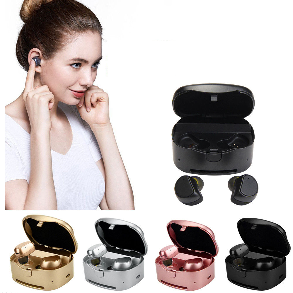 New Twins True Wireless Bluetooth earbuds Mini stereo Bluetooth headset Handsfree Earphone with Charging Box Dock Earbuds twins true tws wireless bluetooth earphone stereo mini two earbuds portable handsfree in ear with charging socket box dock