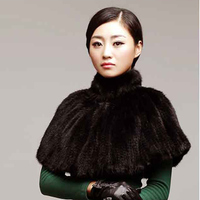 Autumn 100% real mink fur woven scarf women's knitted shawl mink scarf shawl cloak fashion lady's skin color female real winter
