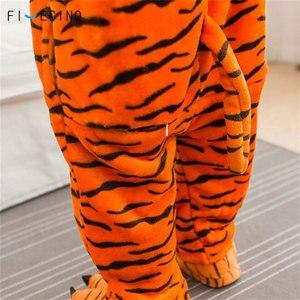 Image 5 - Kinderen Tijger Cosplay Kostuum Animal Cartoon Pyjama Jongen Meisje Carnaval Festival Party Onesie Kid Leuke Kigurumis Zachte Slaap Fancy