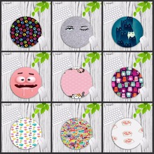 Mairuige Cute Cat Animal Rubber mouse pad round mouse mat non slip mousepad desktop mat for girls 20X20CM rug for office work