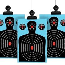 10 упаковок стрельбы цели 12*18 дюймов силуэт плохой брызги реактивная бумага мишени флуоресцентные винтовки пистолет страйкбол гранулятор