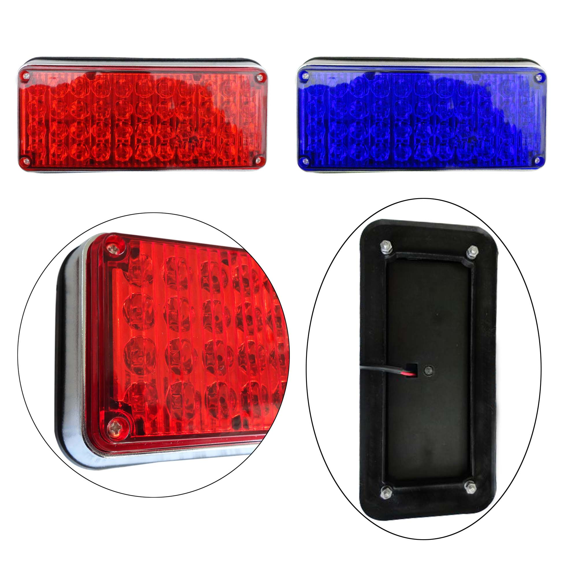 1x 12v 24v led flashing strobe lights lights  for ambulance pumper engines lamps police patrol Perimeter light 198x90x38mm 738-in Car Light Assembly from Automobiles & Motorcycles    3
