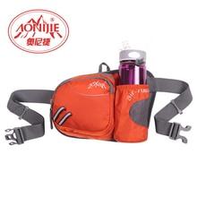 Nueva aonijie cintura corriendo bolsa con bolsillo para la botella titular ciclismo bolsa de cintura dinero cinturón de tela de nylon resistente al agua bolsas de cremallera ajustable