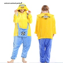 Kigurumi Adult Despicable Me Minion Onesies Christmas Sleepwear Hoodie Pyjamas Cosplay Costume Children Minion Pajamas Jumpsuit снегокат snow moto minion despicable me yellow 37018