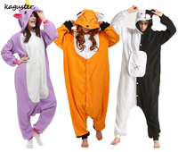 Animal Fox Monokuma Kugurumi Pajama Sets Panda Stitch Onesie Halloween Christmas Cosplay Costume Winter Sleepwear For