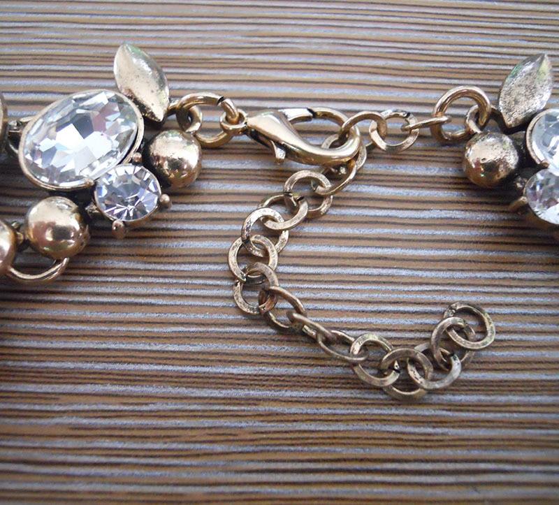 Mode Kristall Large Collar Choker Halskette Frauen Faux Pearl Big Bib - Modeschmuck - Foto 5