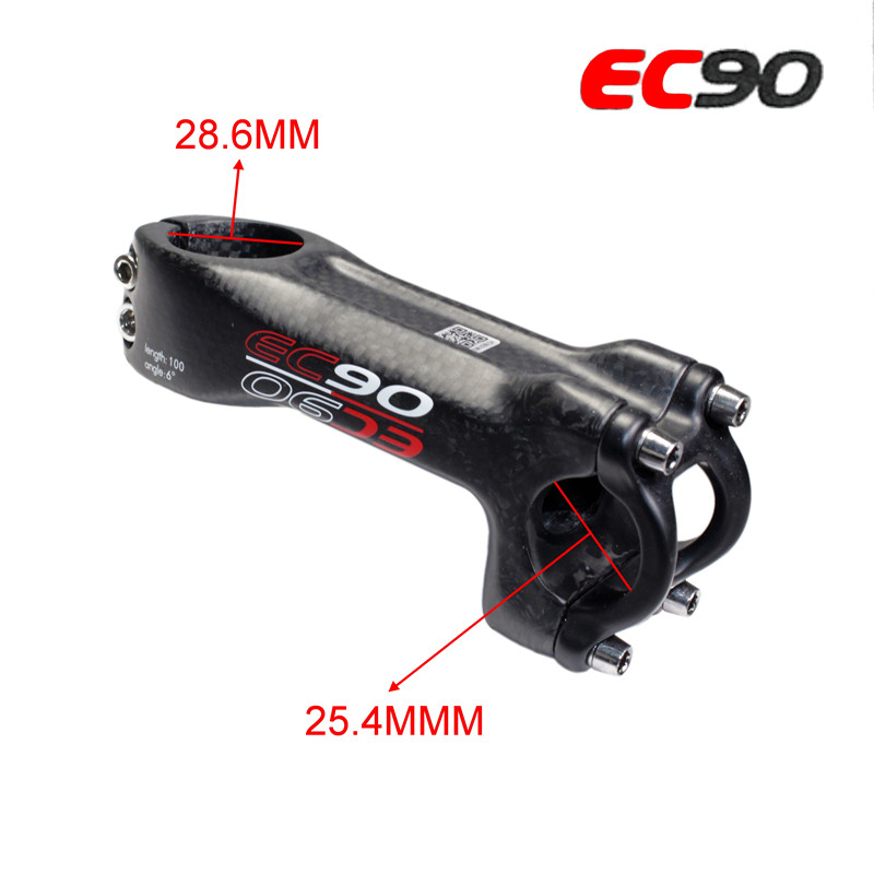 EC90 full carbon fiber riser mountain bike road bike bicycle stem carbon fiber  MTB bicycle Stem 28.6-25.4MM 3K matt bike parts купить
