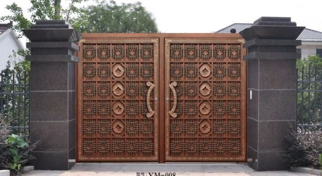 High Quality Home Aluminium Gate Design / Steel Sliding Gate / Aluminum Fence Gate  Designs Hc Ag32