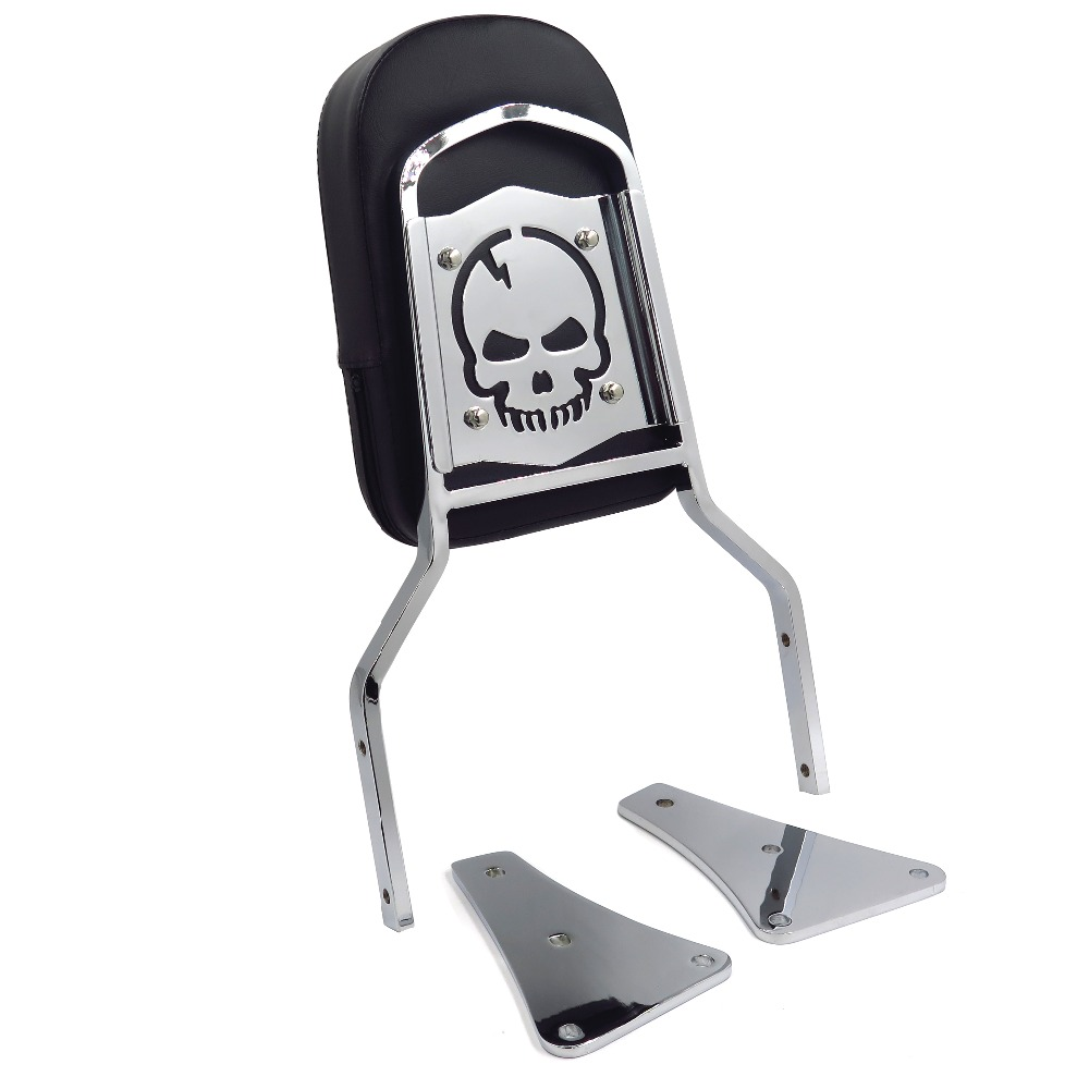 Aftermarket motorcycle parts Skull Backrest Sissy Bar for Vulcan 1500 Classic All Years 1986 2013