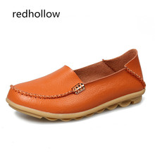 купить Women's Genuine Leather Shoes Casual Flat Loafers Soft Shoes for Women Spring Summer Ladies Moccasins Footwear Plus Size 35 -44 онлайн