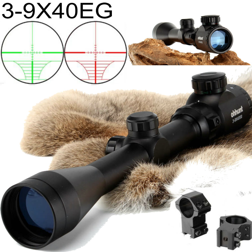 ohhunt 3-9X40 Rangefinder Reticle Red Green Illuminated RifleScope Hunting Crossbow Rifle Scope For .177 .22 Caliber Airgunsohhunt 3-9X40 Rangefinder Reticle Red Green Illuminated RifleScope Hunting Crossbow Rifle Scope For .177 .22 Caliber Airguns