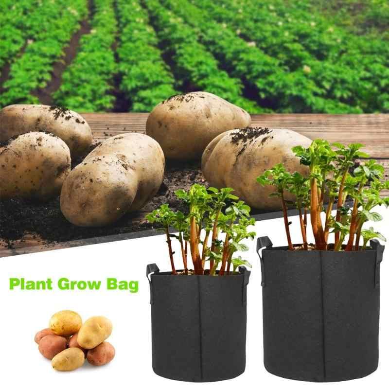 1 PC pomme de terre fraise planteur cultiver sacs légumes tomate jardin plantation Pot 2019 1/2/3/5/7/10 Gallon noir jardin plante sac