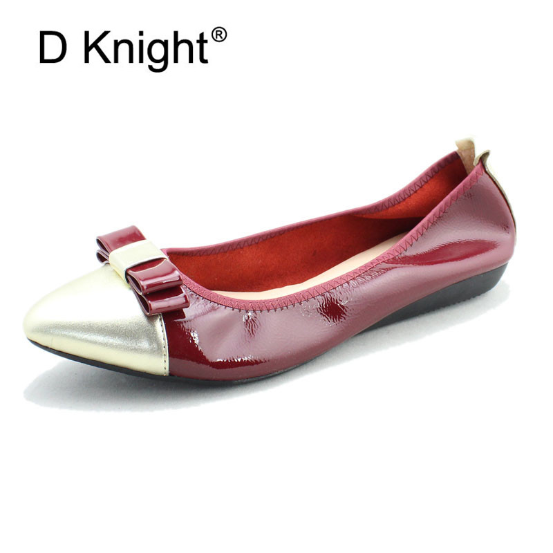 Bowtie Women Ballet Flats Shoes Genuine Leather Slip On Ladies Shallow Moccasins Casual Shoes Female Summer Loafer Shoes Women summer women ballet flats genuine leather shoes ladies soft non slip casual shoes flower slip on loafers moccasins zapatos mujer