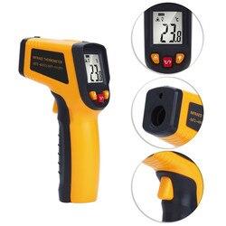 الرقمية ليزر الأشعة تحت الحمراء ميزان الحرارة-50-600 درجة درجة الحرارة قياس أداة LCD البيرومتر مسدس حراري