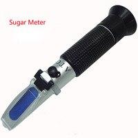 Hand Held Brix Refractometer For Sugar Beer Brix Test Optical 0-32% Brix RHB-32ATC Refractometer Meter 30pcs