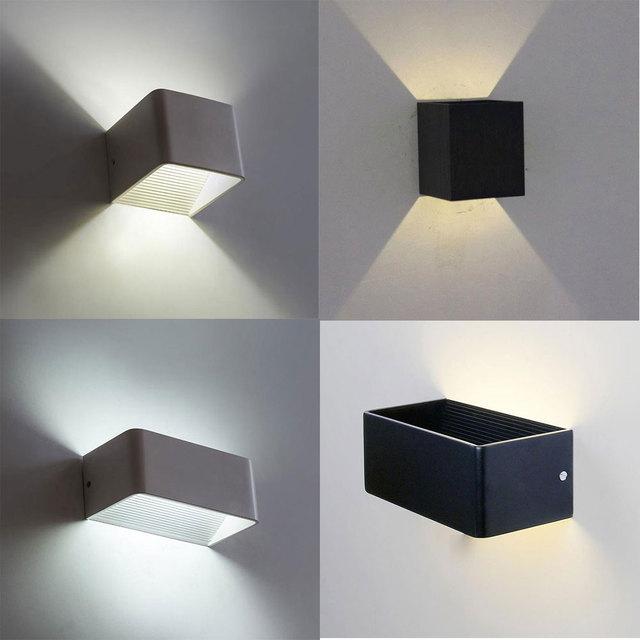 2017 Nieuwe led wandlamp Moderne vierkante led slaapkamer leeslamp ...
