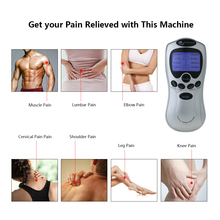 Carevas 8 Mode Eletronic Muscle Stimulator Therapy Tens Machine Rechargeable Pulse Massager Unit LCD Backlight For Pain Relief