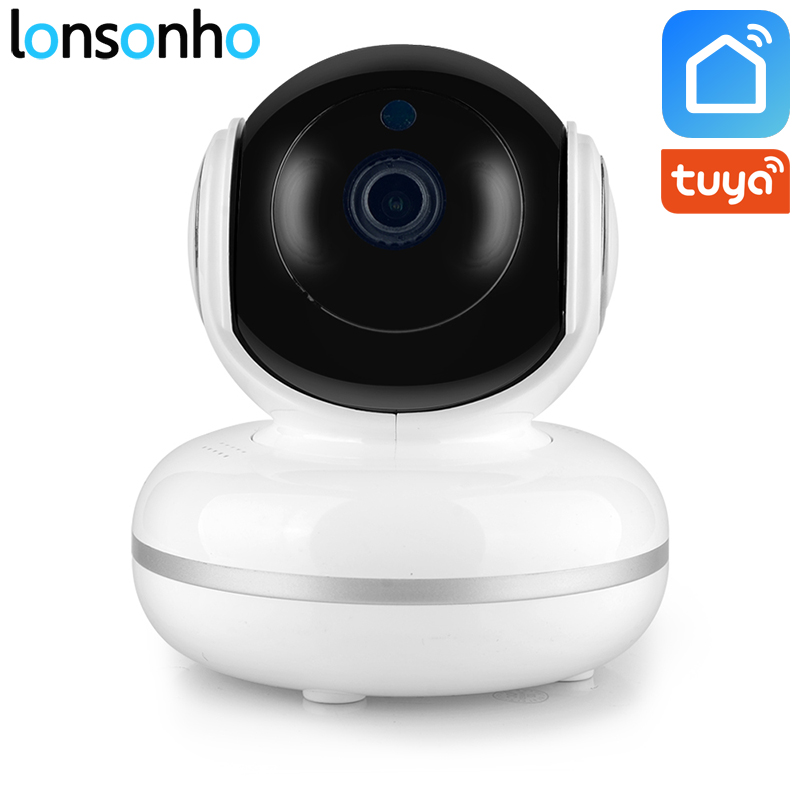 Lonsonho IP Wifi Camera Wireless Smart Home Security 720P 1MP Two Way Audio Motion Detector IR