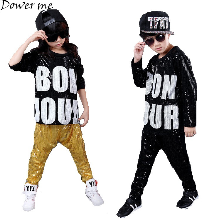 Children Hip Hop Clothing Spring summer Camouflage Cool Sports Suits fashion kids 2pcs Set Boy Girls Sequins Hip Hop Clothing children clothing set kids tracksuit sports suit boy girls fashion camouflage hoodies harem pants kids hip hop clothes