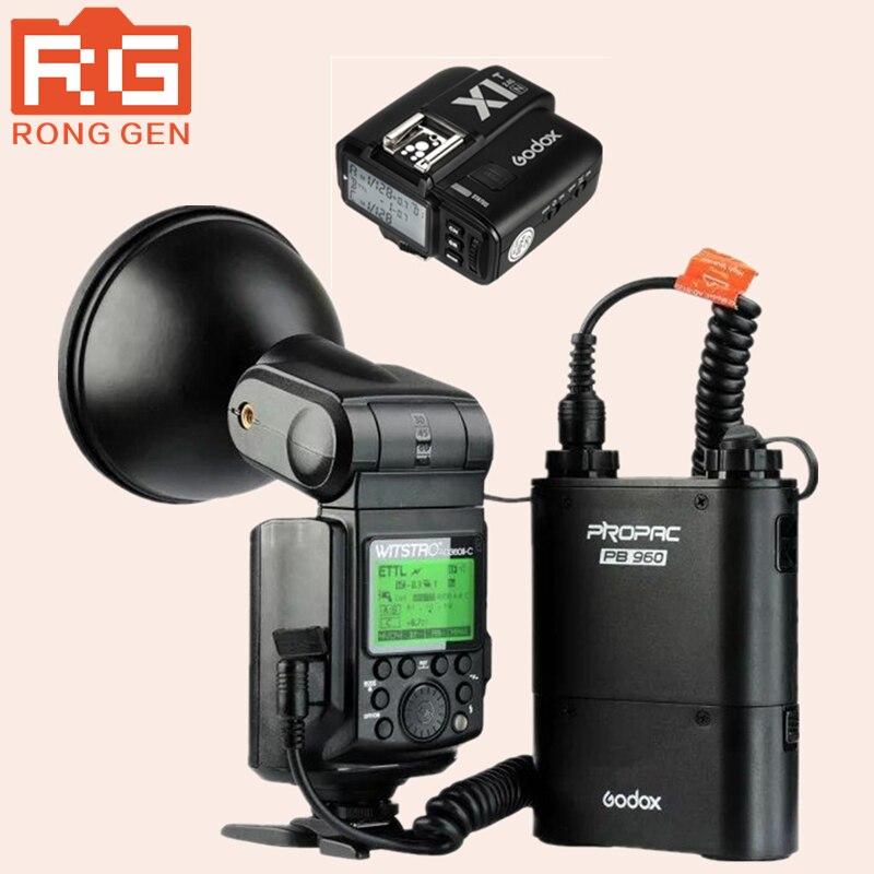 Godox AD360 II Witstro AD360II-N TTL Sur/Off-Appareil Photo Flash Speedlite pour Nikon DSLR Caméras PB960 Battery Pack + X1 Déclenchement Sans Fil