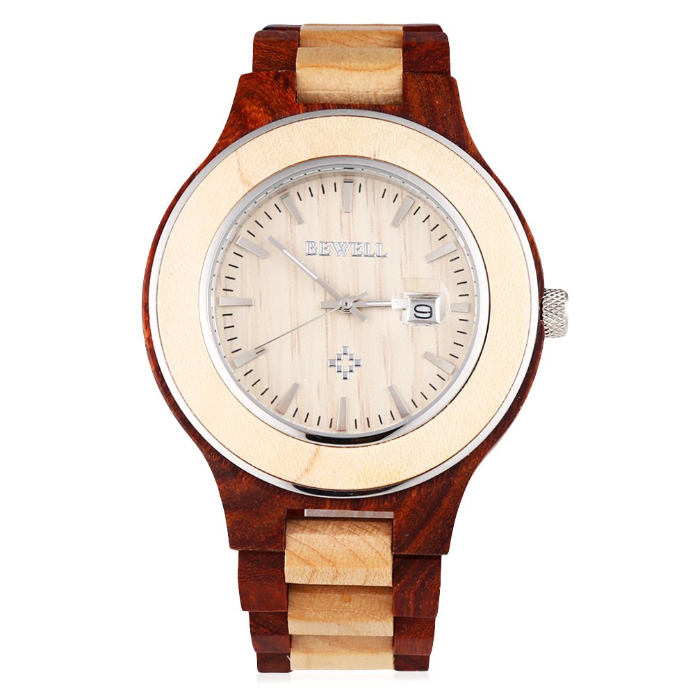 Water Resistant Woods This Is What You Should Know: BEWELL Men Quartz Watch, Luminous Pointer Date Wooden