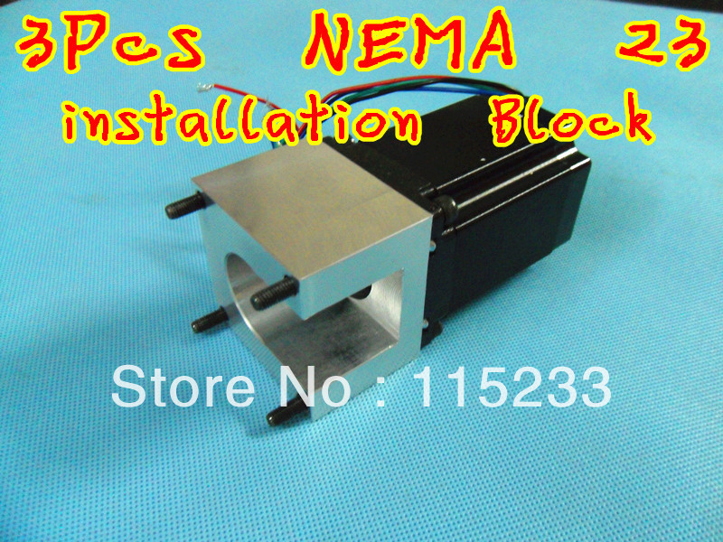 Free shipping 3pcs stepping motor nema 23 mount bracket for Nema 34 stepper motor mount