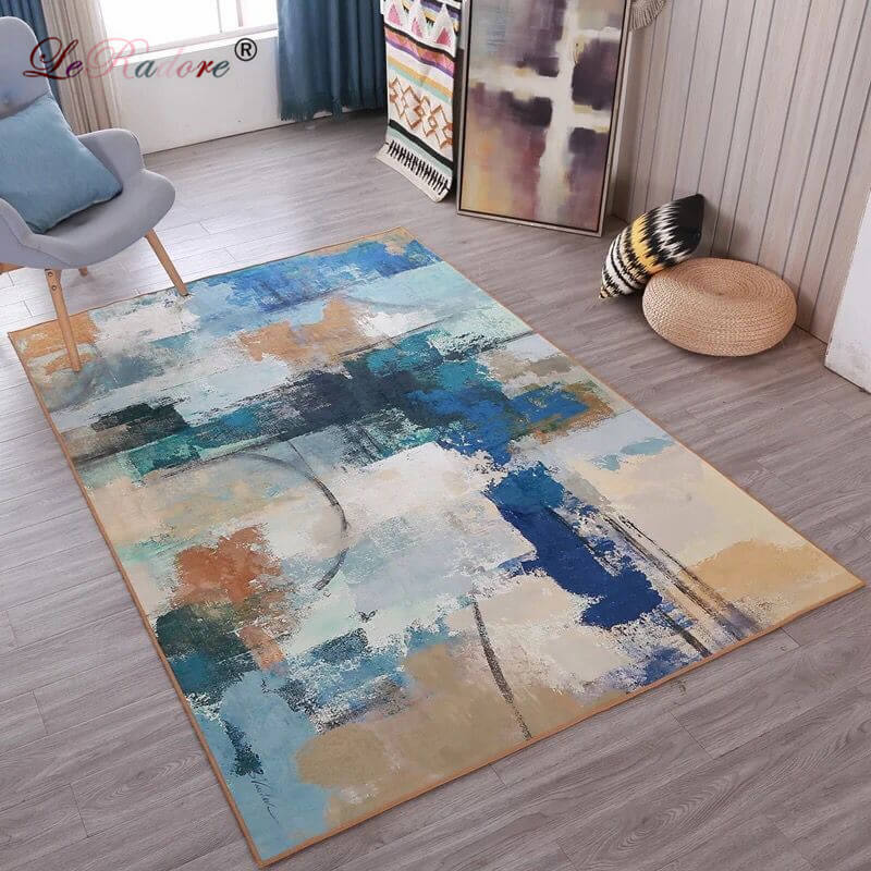 Us 12 64 Leradore Modern Abstract Design Floor Rugs Bedroom Mat Anti Slip Home Decorative Antistat Carpet For Living Room 200 300cm In Rug From