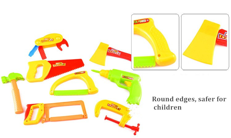 34PCS/Set Garden Tool Toys For Children Repair Tools Pretend Play Environmental Plastic Engineering Maintenance Tool Toys Gifts 9