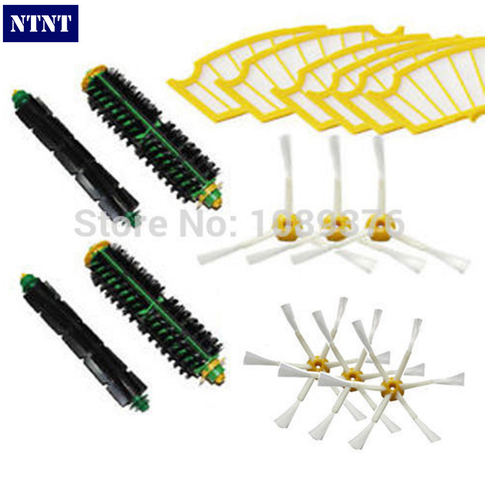 NTNT Free Post New 6 Pcs Filters & 3 Pcs 3/6 armed Brush For iRobot Roomba 500 Series Vacuum 510 520 530 560 munchkin надувная ванночка утка 6 24 мес munchkin