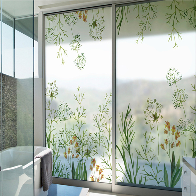 Morning dawn stickers glass stickers frosted glass film anti transparent door balcony transparent opaque bathroom