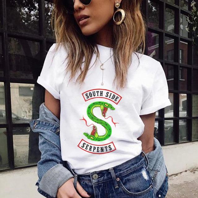 c6a3965b6 Poleras De Mujer Moda 2018 Riverdale Printing T Shirt Women Harajuku  Fashion Kawaii Tops Camiseta Feminina Camisas Mujer