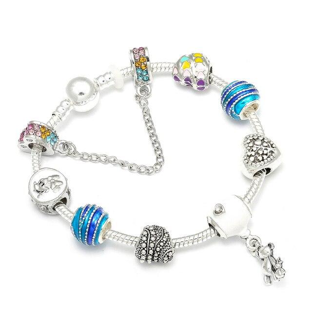 68d25ff98 New Design Mickey Charm Bracelets Teddy & Balloon Pendants Pandora Bracelet  with Rainbow Beads&Charms For Women Jewelry Gift. Anniversary Sale