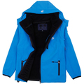 Waterproof Windproof Child Coat Sporty Soft Boys and Girls Tech Jackets Polar Fleece Warm Children Outerwear Clothing For 4-10T