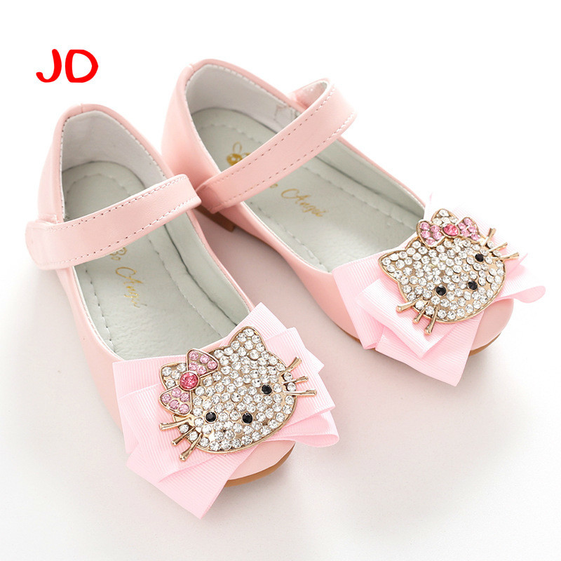 Children Girls Shoes Fashion Princess Slip-on Children Sneaker Leather Shoes For Girls Shoe Size 26-36