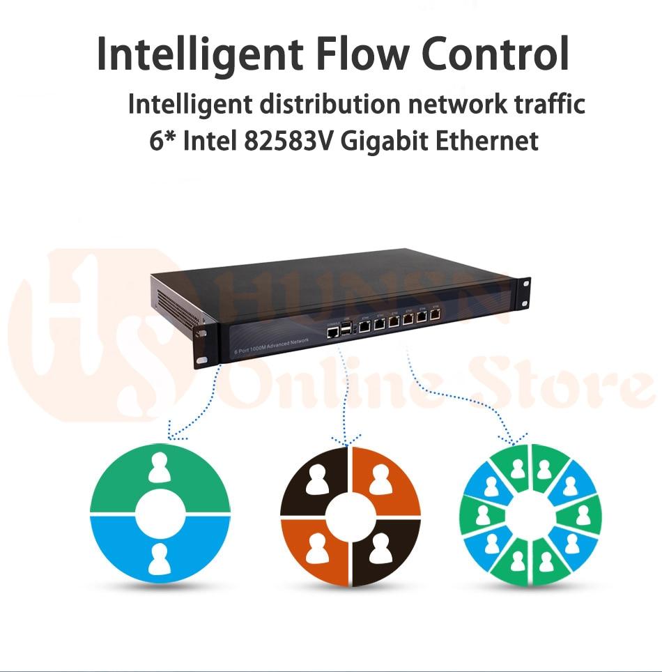Firewall Mikrotik Pfsense VPN Network Security Appliance Router PC Intel  Pentium 3855U,[HUNSN SA07R],(6LAN/2USB2 0/1COM/1VGA)