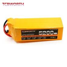 TCBWORTH RC LiPo Battery 6S 22.2V 5200mAh 40C-80C Li-poly batterries 6S for RC model airplane car boat drone rechargeable AKKU