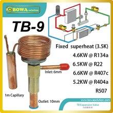 ТБ-9 Маленькие размеры терморегулирующий вентиль с фиксированной отверстие имеет Широкий диапазон температуры кипения