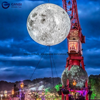 Popular inflatable planet toy hanging inflatable moon ball festival decoration inflatable lighting moon for show