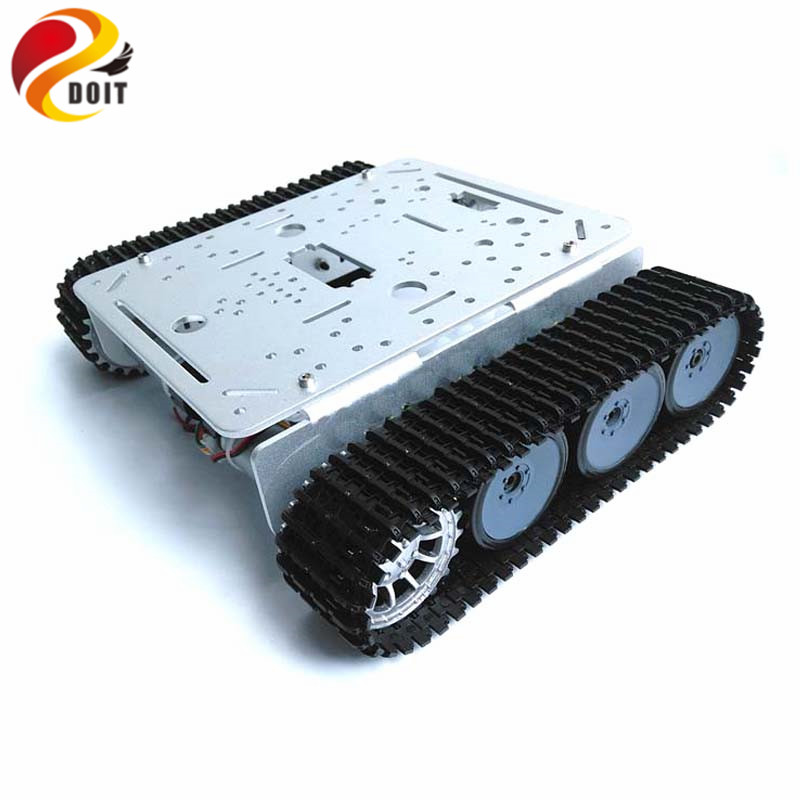 цена на DOIT TP200 WiFi Robot Tank Chassis Robot Car Model Controlled by Android Apple Mobile Phone based on Nodemcu ESP8266 Board Kit