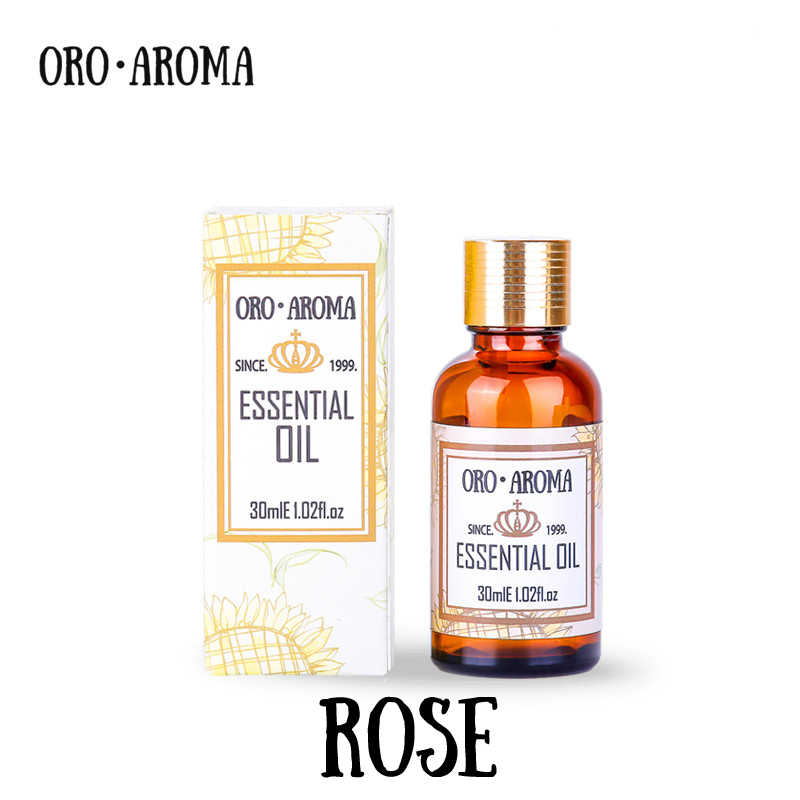 Famous brand oroaroma natural aromatherapy rose essential oil Whitening anti-aging wrinkle relax pigmentation rose oil beauty salons with aromatherapy essential oils rose toner 1000g whitening toner