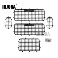 INJORA TRX4 T4Metal Window Mesh Protective Net With DEFENDER Logo For 1 10 RC Crawler Car