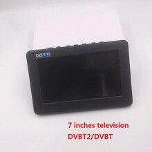 Free Shipping 7 inch 16:9 TFT DVBT2/DVBT Digital & Analog Mini led Portable Car TV all in 1 Support USB Record TV Program
